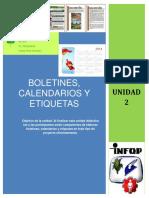 Unidad 2-Boletines Calendarios y Etiquetas
