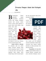 Ekstraksi Pewarna Pangan Alami Dari Kelopak Bunga Rosella