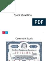 04 Stock Valuation