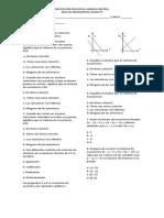 Evaluación Sistema de Ecuaciones Lineales 2x2