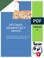 Unidad 5- Diplomas Membretes y Menus
