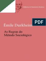 As Regras Do Metodo Sociologico - Emile Durkheim