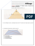 128059773229009 Exercicios de Revisao Triangulo Isosceles Propriedades Prop Que Relaciona Lados e Angulos Do Triangulo e Quadrilateros
