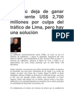 El Perú Deja de Ganar Anualmente US