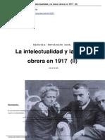 Mandel, David. La Intelectualidad y La Clase Obrera en 1917 (II)
