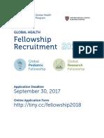 Global Health Fellowship Brochure 2018