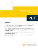 NumericalReasoningTest1 Solutions