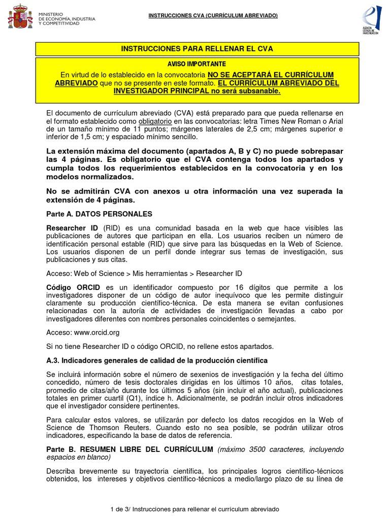 Fine Formato De Resumen Curricular Para Rellenar Collection ...