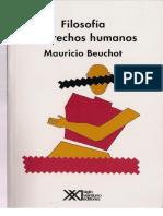 Beuchot Mauricio -Filosofia y Derechos Humanos