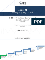Lecture 1B - History of Quality