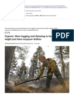 Experts_ More Logging and Thinning to Battle Wildfires Might Just Burn Taxpayer Dollars _ Local _ Missoulian.com