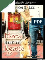 Hasta Que Tu Llegaste - Marion S Lee