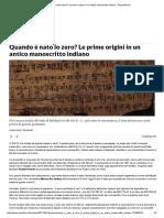 Quando è Nato Lo Zero_ Le Prime Origini in Un Antico Manoscritto Indiano - Repubblica