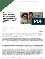 """La Cacciatrice Della Malaria. Un'Italiana Nel Cuore Dell'Africa. """"La Chiave è Nel Dna"""" - Repubblica"""