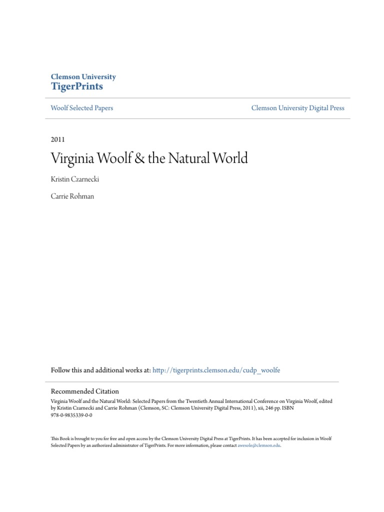 4fccd35b3ac Virginia Woolf & the Natural World Book | Ecofeminism | Virginia Woolf