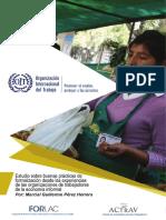 Estudio sobre Buenas Prácticas de Formalización con Organizaciones de la Economía Informal