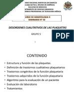 Desordenes Cualitativos de Las Plaquetas