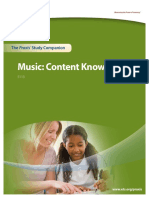 Music Content Knowledge