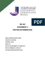 Exp 2 Protein Determination