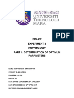 Exp 3 Enzymology Part 1 Determination of Optimum Parameters - Copy