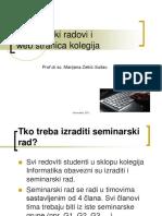 Seminari Prezentacija Upute 2013