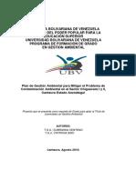 Plan de Gestión Ambiental para Mitigar el Problema de Contaminación Ambiental en el Sector Chiguacara I y II, Cantaura Estado Anzoátegui