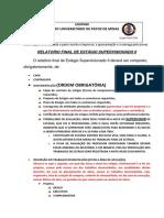 Orientações- Relatório Final - Estagio Supervisionado II