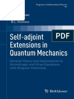 Bonneau - Self Adjoint Extensions in Quantum Mechanics