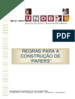Regras Para Construção de Papers - 2015.2