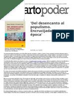 Álvarez, Una Charla Entre Amigos Para Interpretar El Populismo