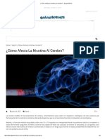 ¿Cómo Afecta La Nicotina Al Cerebro_ - GalarScience