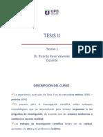 Tesis II Sesión 1