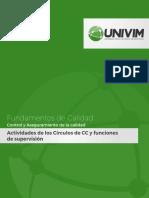 Actividades de los Círculos de CC y funciones de supervisión