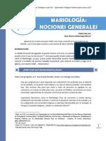Clase 1 - Mariología Nociones Generales