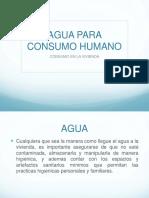 agua para consumo humano