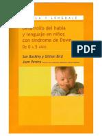 Desarrollo Habla y Lenguaje  Síndrome de Down - Sue Buckley.pdf