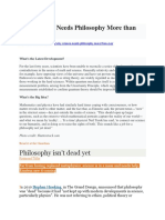 Why Science Needs Philosophy More than Ever art. 38.docx