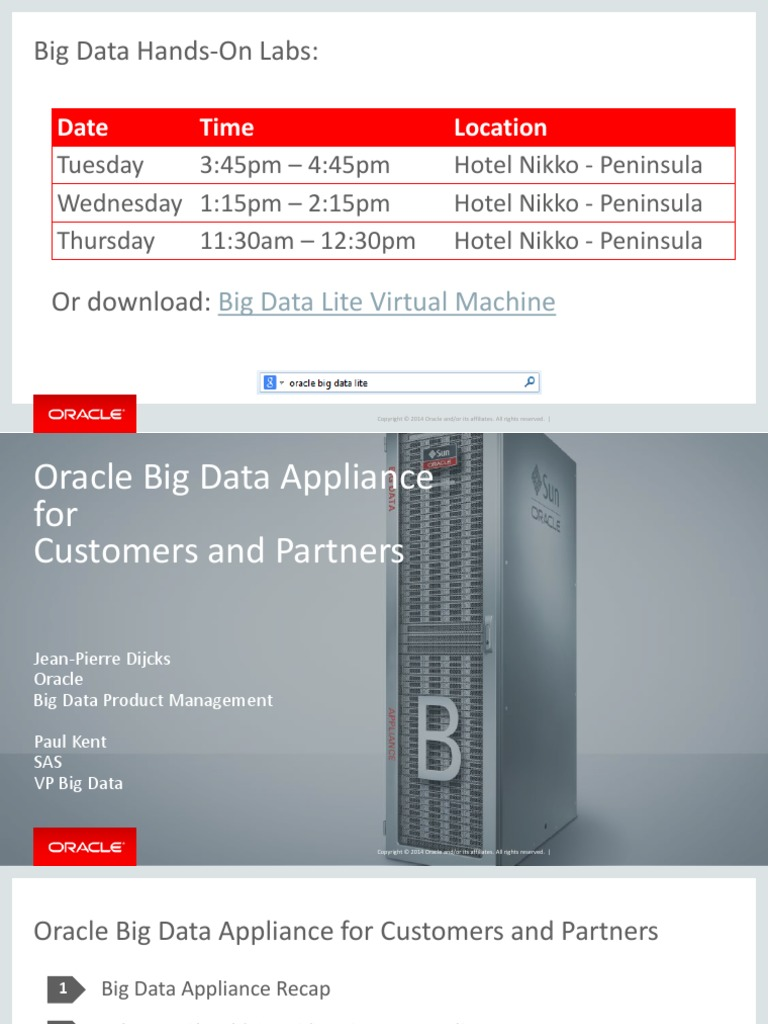CON8279 Kent-2014 09 29 Dijcks Kent OOW Oracle Big Data