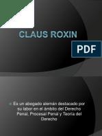Diapositiva - Claus Roxin - Generalidades Sobre Sus Trabajos