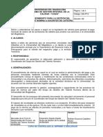 GH-P13 Procedimiento Para La Gestión Del Pago de Nómina a Docentes de Cátedra
