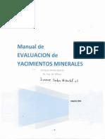 Manual de Evaluación de Yacimientos Minerles - Enrique Orche García