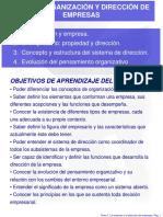 Organizacion y Dirección de Empresas