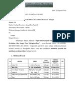 Surat Perubahan Mobilisasi (Taa)