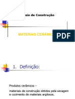 Materiais ceramicos