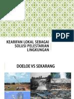Kapita Selekta-kearifan Lokal Sebagai Solusi Pelestarian Lingkungan