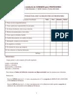 Cuestionario de Conducta de CONNERS Para PROFESORES Lista de Alumnos