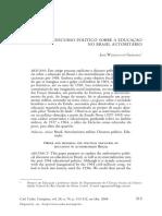 GERMANO, J. W. O discurso político sobre a educação no Brasil autoritário.pdf