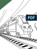 Ausmalbilder Zug 7