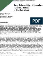 Sex Gender Identity and Gender Role Attitudes