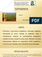Topografia - Aula 01